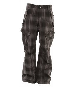 Ride Belltown Snowboard Pants Hank Plaid Flannel Black