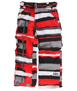 Ride Charger Snowboard Pants Painted Plaid Print Red