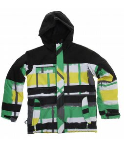 Ride Cobra Snowboard Jacket Painted Plaid Print Green