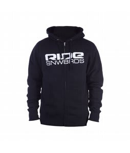 Ride Corp Logo Full Zip Hoodie Black