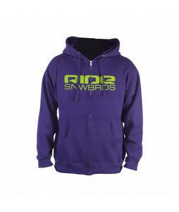 Ride Corp Logo Full Zip Hoodie Purple Heather