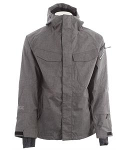 Ride Delridge Snowboard Jacket Black Concrete Melange