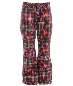 Ride Eastlake Snowboard Pants Distressed Plaid Print