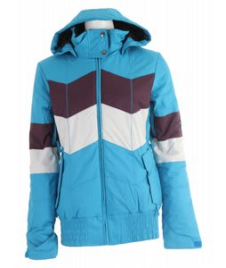 Ride Greenwood Insulated Snowboard Jacket Bluebird/Deep Plum/White Ice
