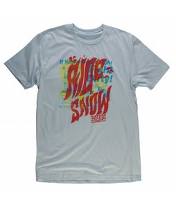 Ride Groovy Logo Slim Fit T-Shirt Light Blue