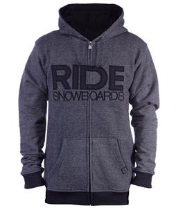 Ride Heathered Full Zip Hoodie Black