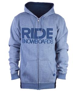 Ride Heathered Full Zip Hoodie Captains Blue