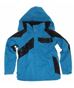 Ride Hemi Insulated Snowboard Jacket Bluebird/Black Worn Out Plaid Print