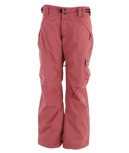 Ride Highland Insulated Snowboard Pants Coral Gingham