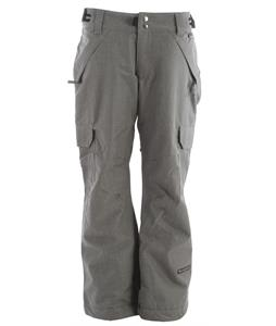 Ride Highland Insulated Snowboard Pants Lt Gray Denim