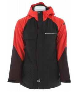 Ride Laurelhurst Insulated Snowboard Jacket Black/Poppy Red/Red Denim