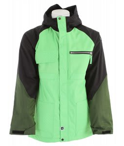 Ride Laurelhurst Insulated Snowboard Jacket Green/Black/Green Denim
