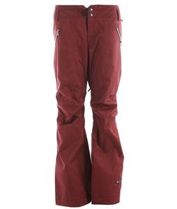 Ride Leschi Snowboard Pants Maroon Twill