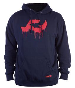 Ride Logo Drip Pullover Hoodie Navy