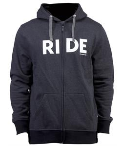 Ride Logo Full Zip Hoodie Black Heather