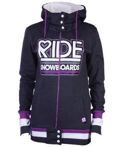 Ride Logo Full Zip Hoodie Charcoal Heather