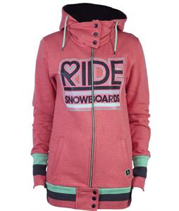 Ride Logo Full Zip Hoodie Strawberry
