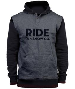 Ride Logo Henley Pullover Hoodie Gray Heather