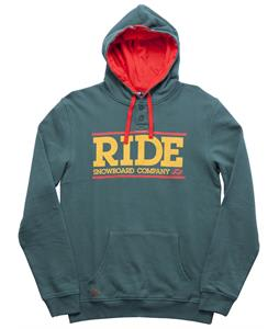 Ride Logo Henley Pull Over Hoodie