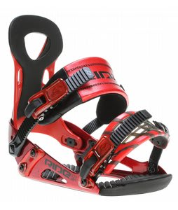 Ride LX Snowboard Bindings Red