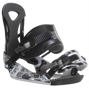 Ride LX Snowboard Bindings Black/Chrome