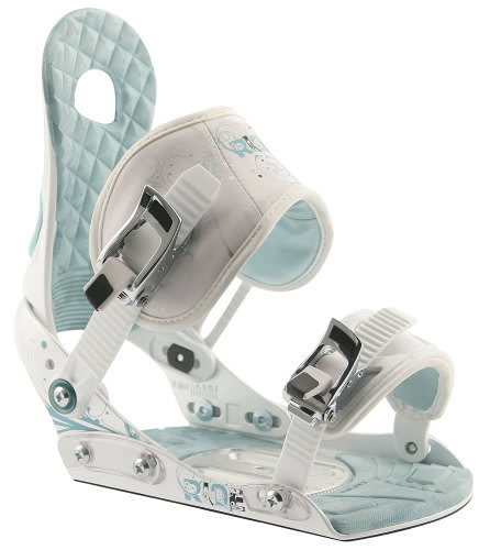 Ride LXH Snowboard Bindings White/Blue