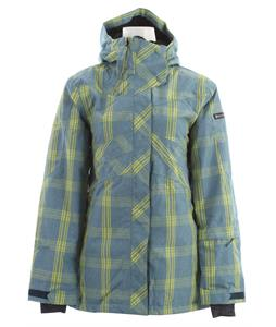 Ride Madison Snowboard Jacket Faded Plaid Steel Blue