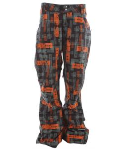 Ride Madrona Snowboard Pants Worn Out Print