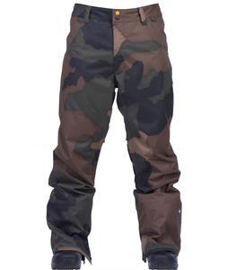 Ride Madronna Snowboard Pants Camo Print
