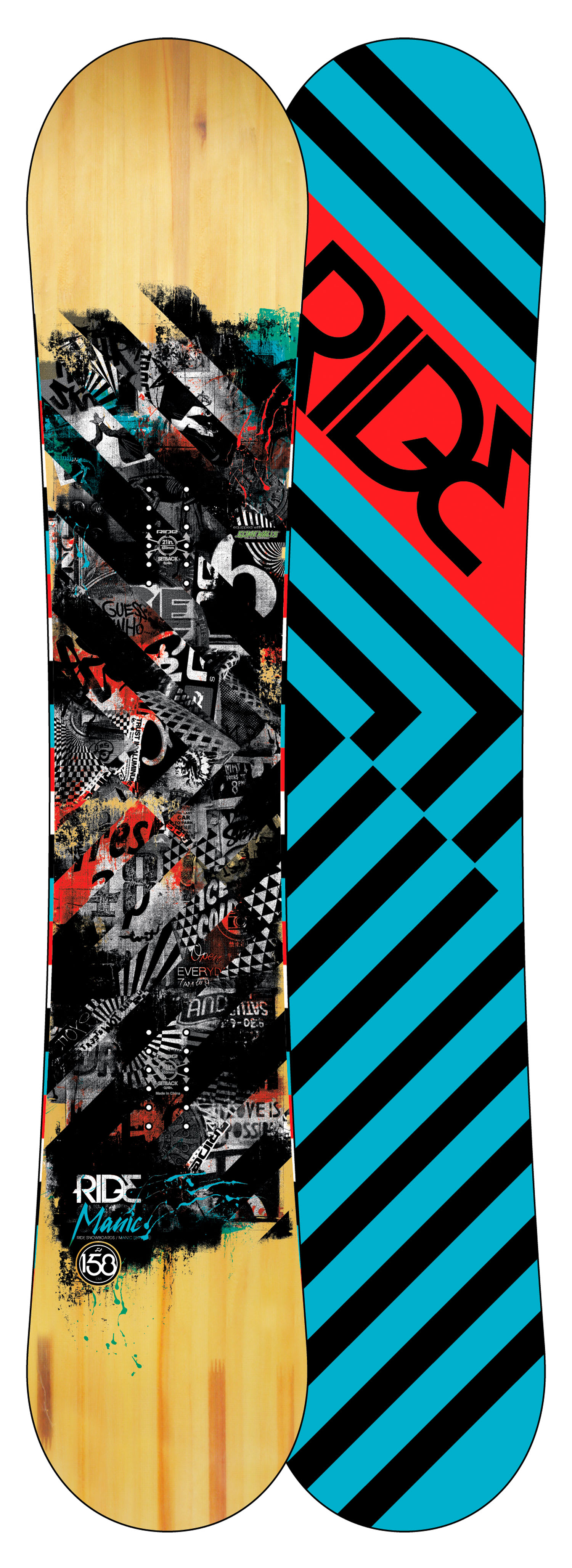 Shop for Ride Manic Snowboard 158 - Men's