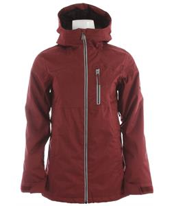 Ride Medina Snowboard Jacket Maroon Twill