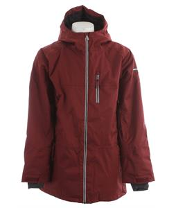 Ride Newport Insulated Snowboard Jacket Maroon Twill