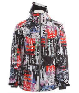 Ride Newport Insulated Snowboard Jacket Space Knuckle Print