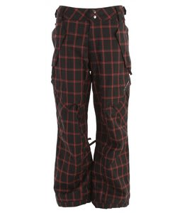 Ride Phinney Insulated Snowboard Pants Black Window Pane Plaid