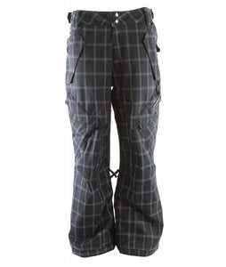 Ride Phinney Insulated Snowboard Pants Blue Spruce Window Pane Plaid