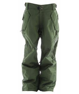 Ride Phinney Insulated Snowboard Pants Green Denim