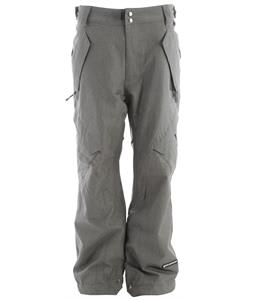 Ride Phinney Insulated Snowboard Pants Light Gray Denim