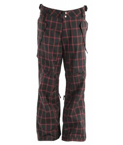 Ride Phinney Snowboard Pants Black Window Pane Plaid