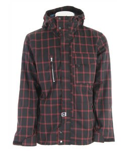 Ride Pioneer Snowboard Jacket Black Window Pane Plaid