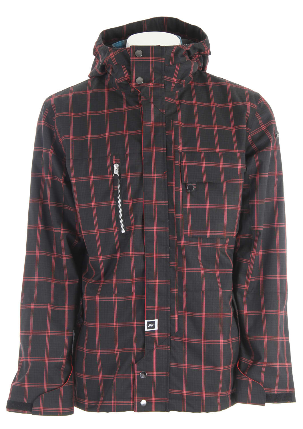 Shop for Ride Pioneer Snowboard Jacket Black Window Pane Plaid - Men's