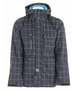 Ride Pioneer Snowboard Jacket Blue Spruce Window Pane Plaid