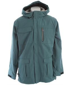 Ride Pioneer Snowboard Jacket Teal Denim