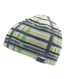 Ride Plaid Reversible Beanie Green