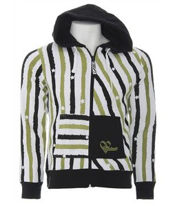 Ride Series Print Zip Hoodie Painted Stripe