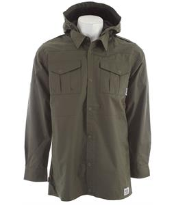 Ride Shacket Snowboard Jacket Battle Green Canvas