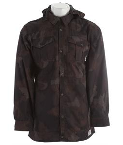 Ride Shacket Snowboard Jacket Black Camo Wool