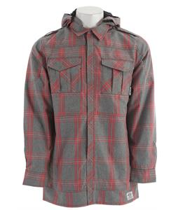 Ride Shacket Snowboard Jacket Faded Plaid Gray