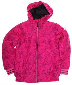 Ride Shelby Snowboard Jacket Camo Leopard Print Vivid Magenta