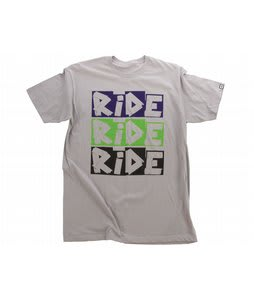 Ride Slim Duct Logo T-Shirt Pewter