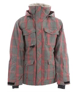 Ride Sodo Snowboard Jacket Faded Plaid Red